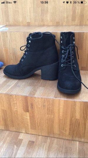Even & Odd Bottines à lacets noir