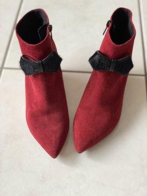 Peter Kaiser Wedge Booties dark red-black