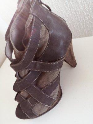 Tamaris Patucos con punta abierta taupe-marrón grisáceo