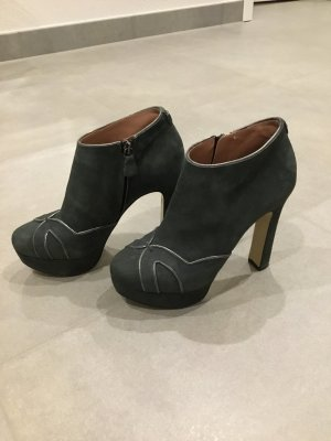 Twin set Bottines à plateforme gris daim