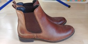 Varese Chelsea Boots brown-cognac-coloured leather
