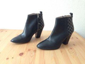 Zara Bottines à fermeture éclair noir-argenté