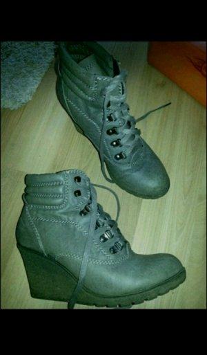 Stiefeletten Wedges Schuhe