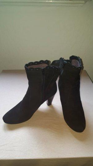 si by sinela Zipper Booties black leather