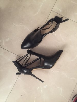 Zara Stivaletto cut out nero