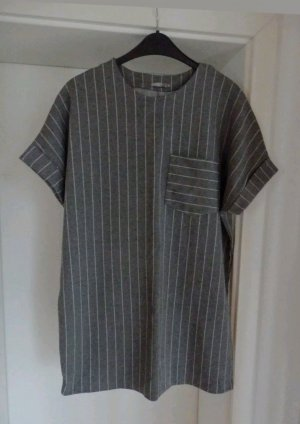 Tunic Dress silver-colored-dark grey textile fiber