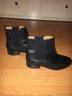 Mango Chelsea laarzen zwart Leer