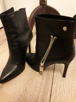 Liu jo Zipper Booties black leather