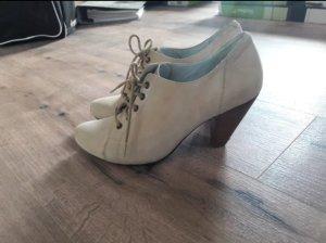 Stiefelletten Boots beige creme von Vagabond 38 Absatzschuhe Wildleder Echtleder Schuhe