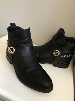 Tommy Hilfiger Booties black-gold-colored