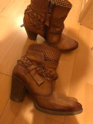 Leroy & Dee Western Booties brown-light brown