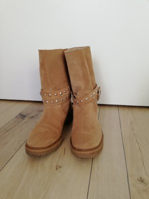 Zara Stivale Chelsea marrone chiaro-beige