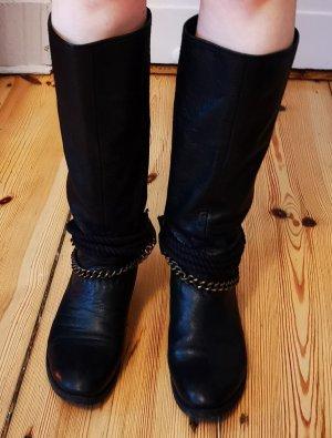 Eden Riding Boots black leather