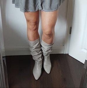 Stiefeln wie neu hellgrau Glattleder Zara 37