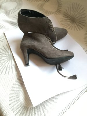 Divine Follie Bottines à lacets gris cuir