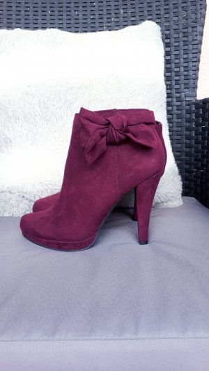 Catwalk High Heel Boots blackberry-red