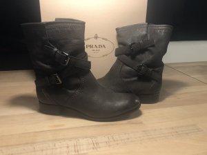 Prada Booties taupe leather