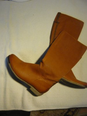 High Boots cognac-coloured
