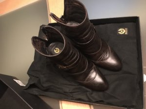 Belstaff Zipper Booties black brown leather
