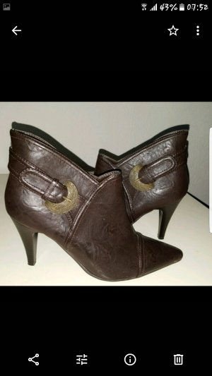 Bellissima Booties dark brown leather