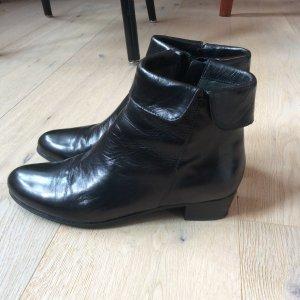 Stifeletten - schwarz, Leder, wie neu! - Gr. 38