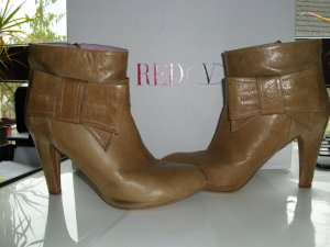 RED Valentino Zipper Booties sand brown leather