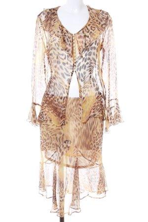 STIFF Traje para mujer estampado de leopardo estilo extravagante