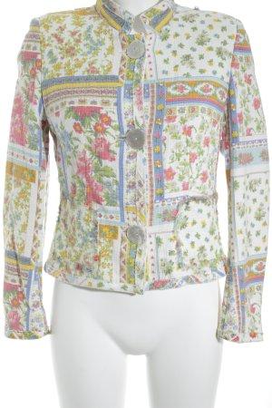 STIFF Veste courte motif de fleur style des années 60