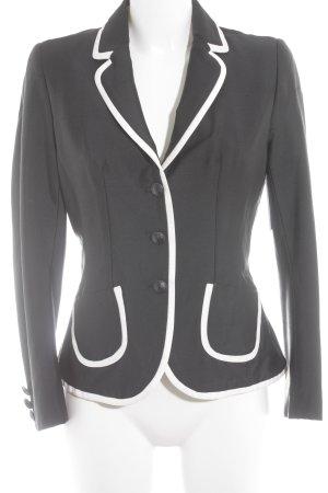 STIFF Blazer de esmoquin negro-blanco estilo «business»