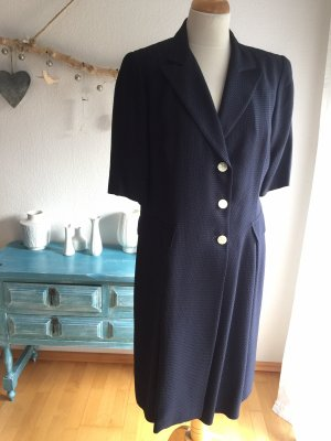 STIFF Vestido cruzado azul oscuro