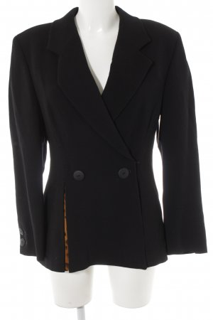 STIFF Woll-Blazer schwarz Business-Look