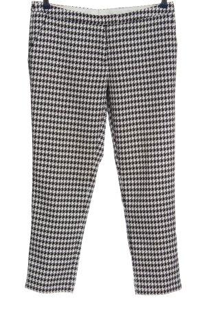 Stile Benetton 7/8-Hose schwarz-weiß grafisches Muster Casual-Look
