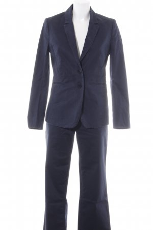Stile Benetton Anzughose dunkelblau Business-Look