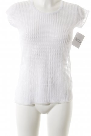 Stile Benetton Basic Top weiß Casual-Look