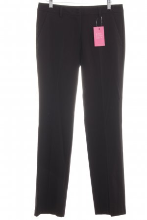Stile Benetton Bundfaltenhose schwarz Business-Look