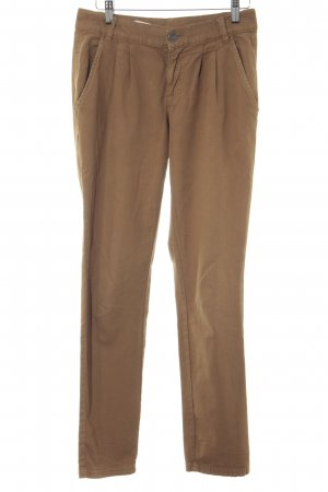 Stile Benetton Bundfaltenhose camel Casual-Look