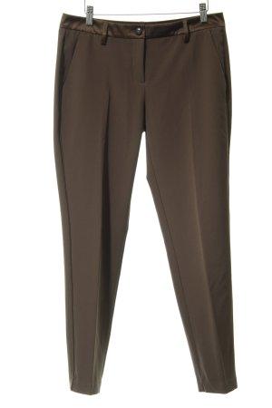 Stile Benetton Pantalon à pinces brun foncé style d'affaires