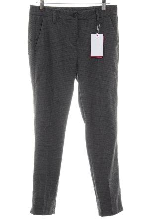 Stile Benetton Pantalon à pinces noir-gris brun motif à carreau style simple