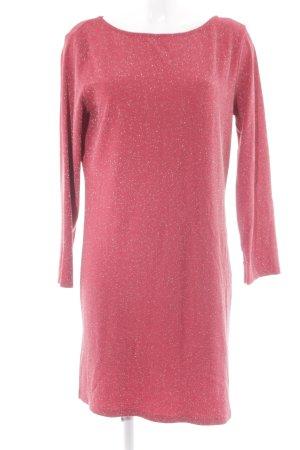 Stile Benetton Cut-Out-Kleid silberfarben-hellrot Zackenmuster Elegant
