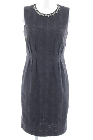 Stile Benetton Etuikleid schwarz abstraktes Muster Elegant