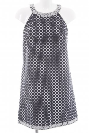 Stile Benetton Etuikleid schwarz-weiß Allover-Druck Business-Look
