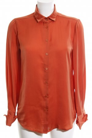 Stile Benetton Hemd-Bluse hellorange Business-Look