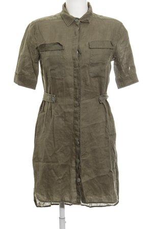 Stile Benetton Hemdblusenkleid khaki Military-Look