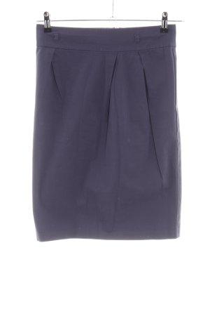 Stile Benetton High Waist Rock blau Business-Look