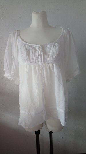 STILE BENETTON Hinreißende weiße Bluse mit Princessdekolleté