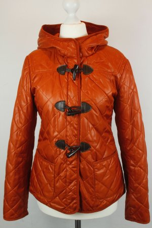 Stile Benetton Jacke Steppjacke Übergangsjacke Gr. 38 orange Kapuze