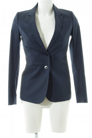 Stile Benetton Kurz-Blazer blau Business-Look