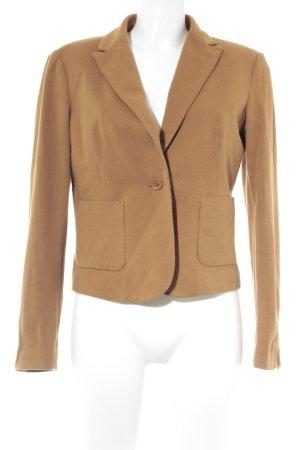 Stile Benetton Kurz-Blazer bronzefarben Webmuster Casual-Look