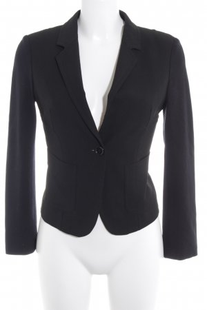 Stile Benetton Kurz-Blazer schwarz Casual-Look