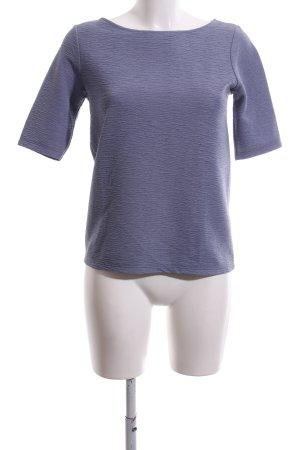 Stile Benetton Kurzarm-Bluse blau Casual-Look